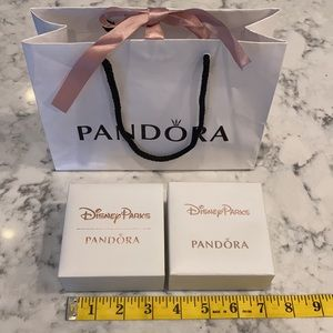 Lot of Pandora Jewelry Boxes and Shopping Bag